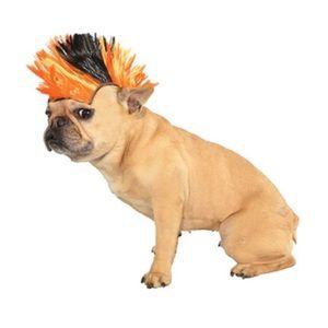 80s Punk Rocker Mohawk Wig for Pet Dog